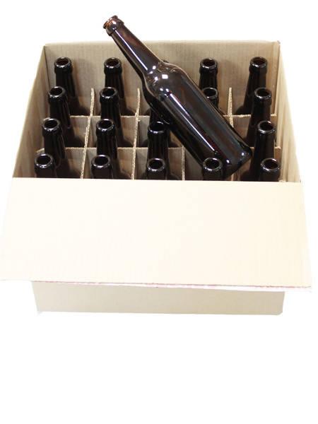 Бутылки пивные 0,5 л, 20 шт в картонной коробке БЕЗ ЛОГОТИПА