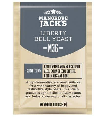 Дрожжи Mangrove Jack's Liberty Bell Ale M36, 10 г