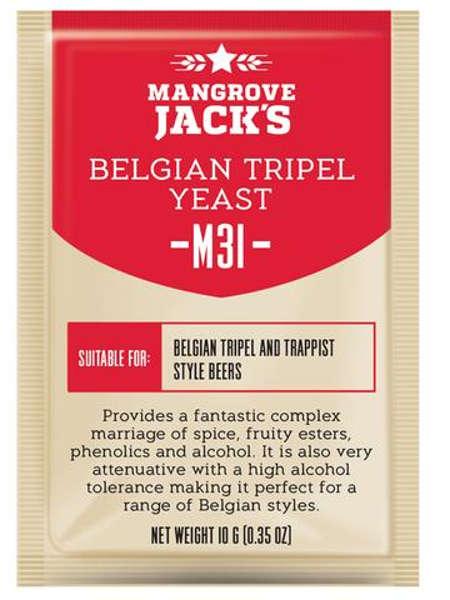 Пивные дрожжи Mangrove Jack's Belgian Tripel M31, 10 г
