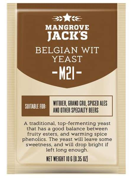 Пивные дрожжи Mangrove Jack's Belgian Wit M21, 10 г